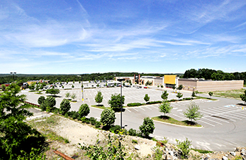 Maine Commercial & Retail Photography - Overview of Shopping Center