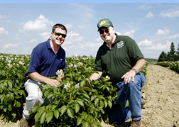 Maine Commercial & Agricultural Photography - Potato Growers on Maine Farm