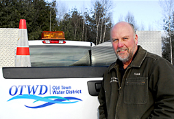 Maine Commercial & Industrial Photography - Water District Employee with Truck